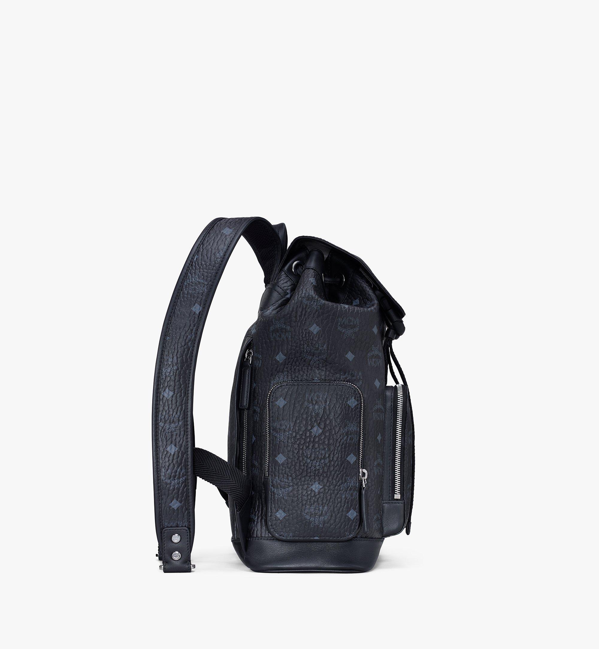 MCM Brandenburg Backpack in Visetos Black MMKASBG05BK001 Alternate View 1