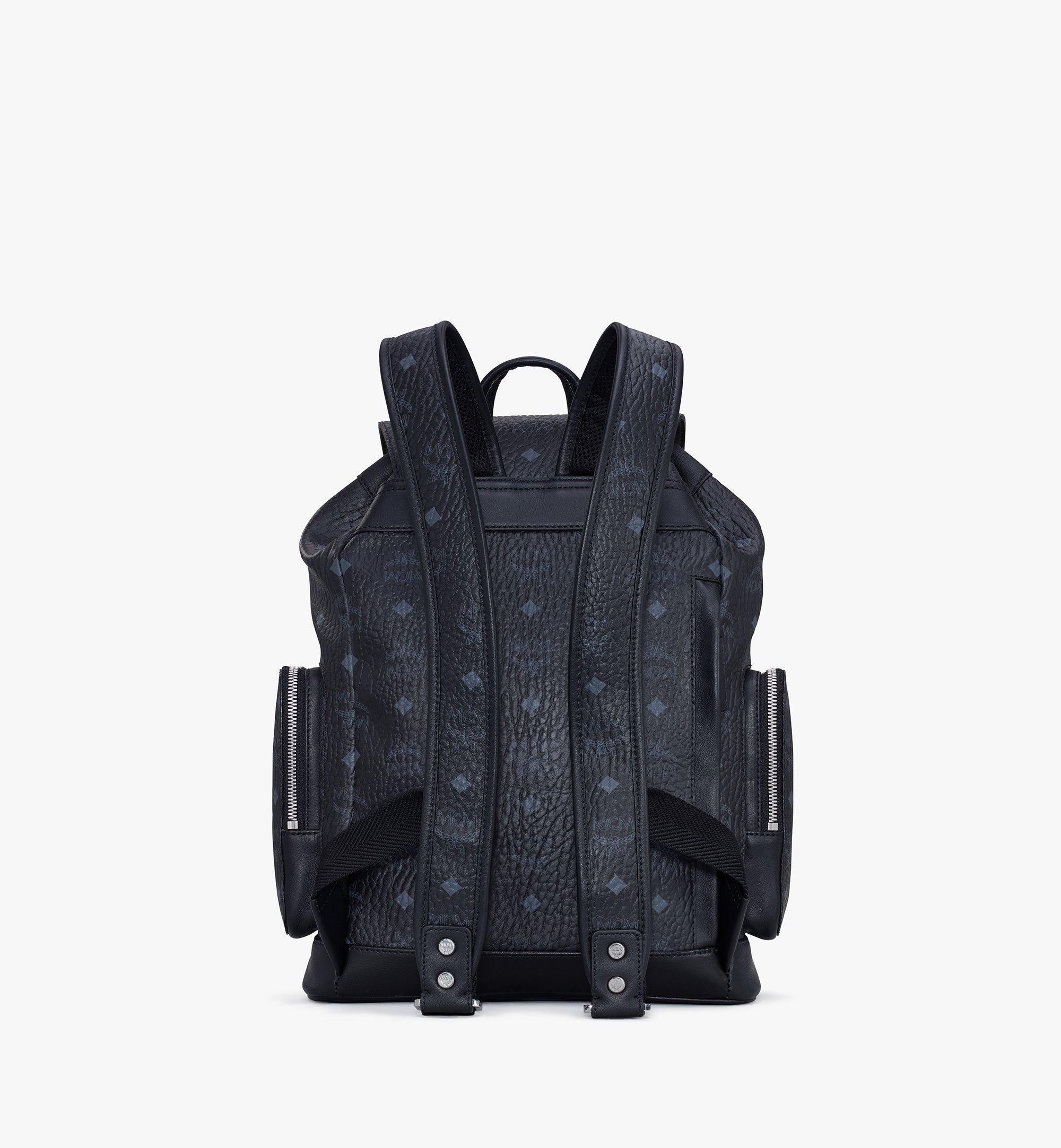 MCM Brandenburg Backpack in Visetos Black MMKASBG05BK001 Alternate View 2
