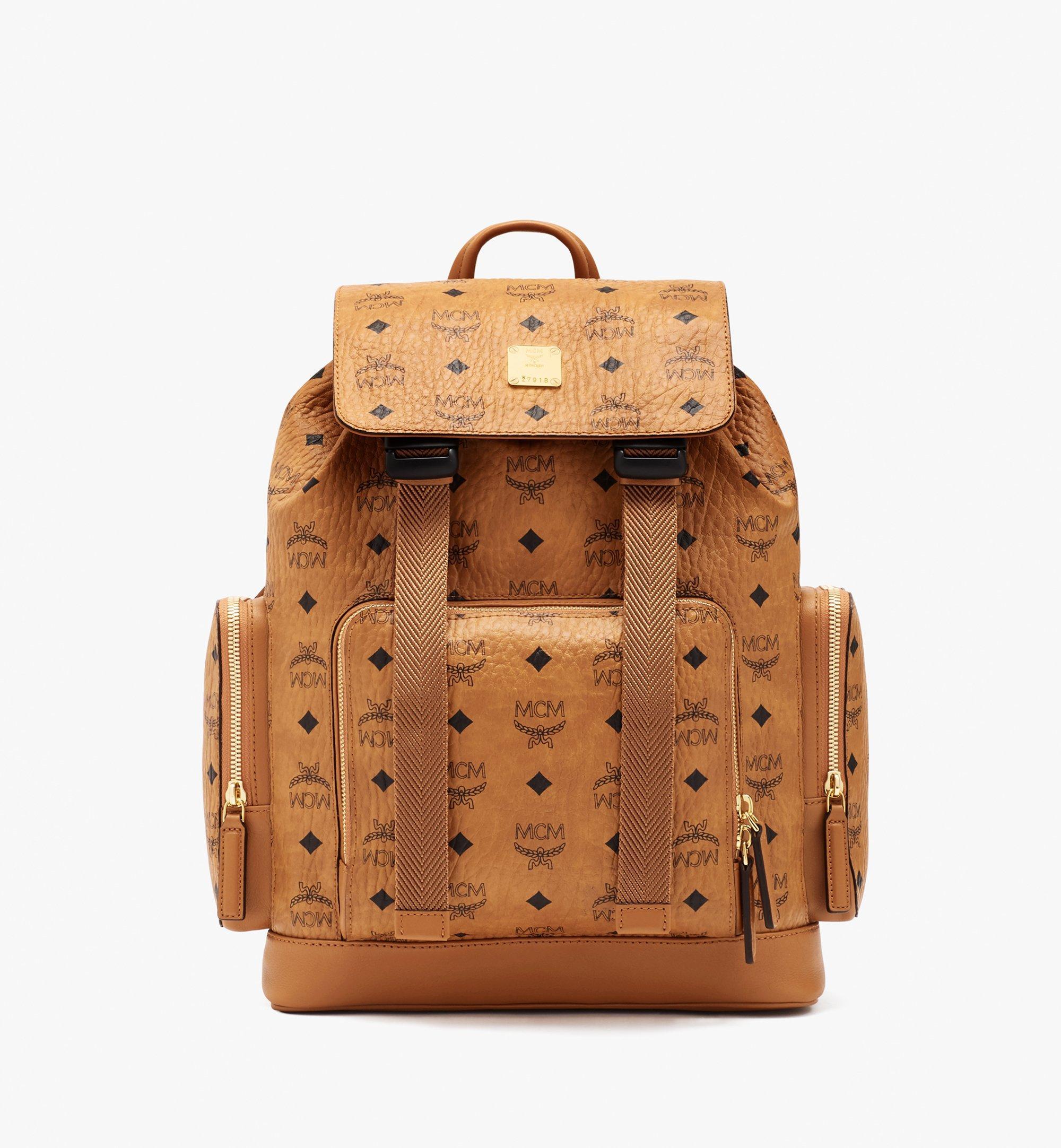 MCM Brandenburg Backpack in Visetos Cognac MMKASBG05CO001 Alternate View 1