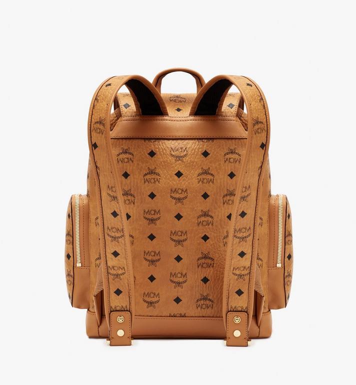 MCM Brandenburg Backpack in Visetos Cognac MMKASBG05CO001 Alternate View 3