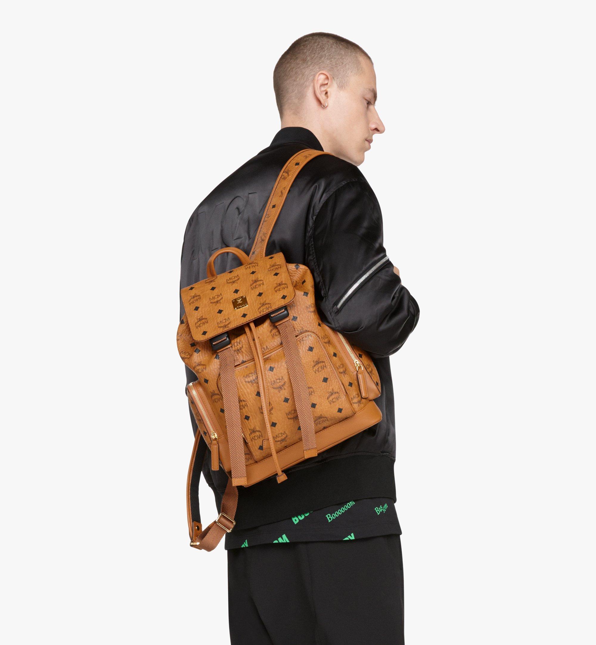 MCM Brandenburg Backpack in Visetos Cognac MMKASBG05CO001 Alternate View 6