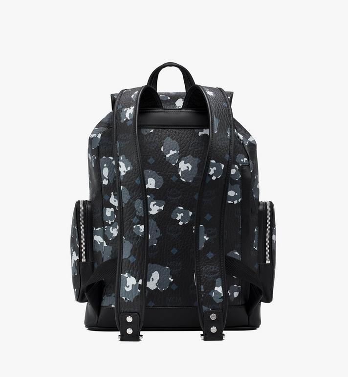MCM Brandenburg Backpack in Floral Leopard Black MMKASBG06B1001 Alternate View 3
