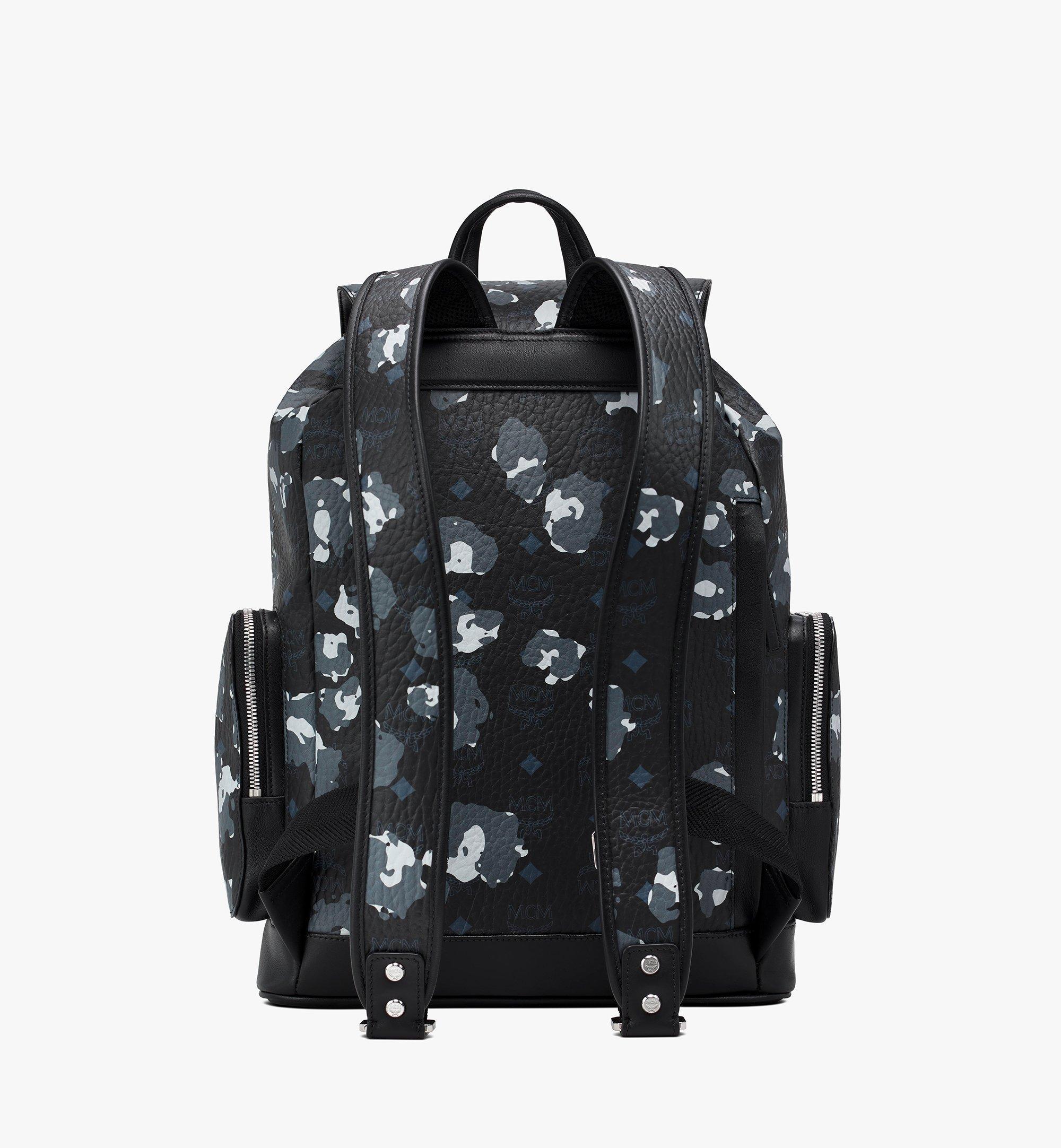 MCM Brandenburg Backpack in Floral Leopard Black MMKASBG06B1001 Alternate View 3