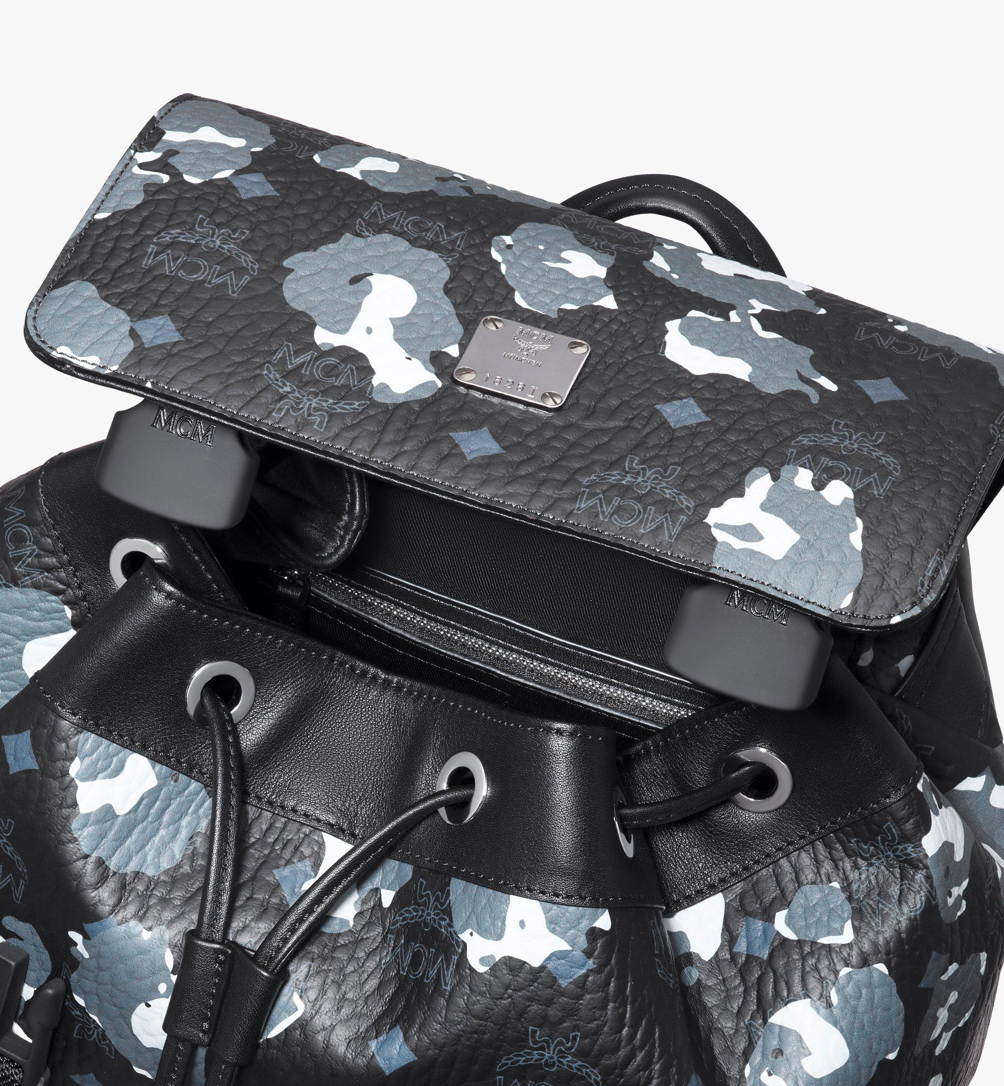 MCM Brandenburg Backpack in Floral Leopard Black MMKASBG06B1001 Alternate View 4