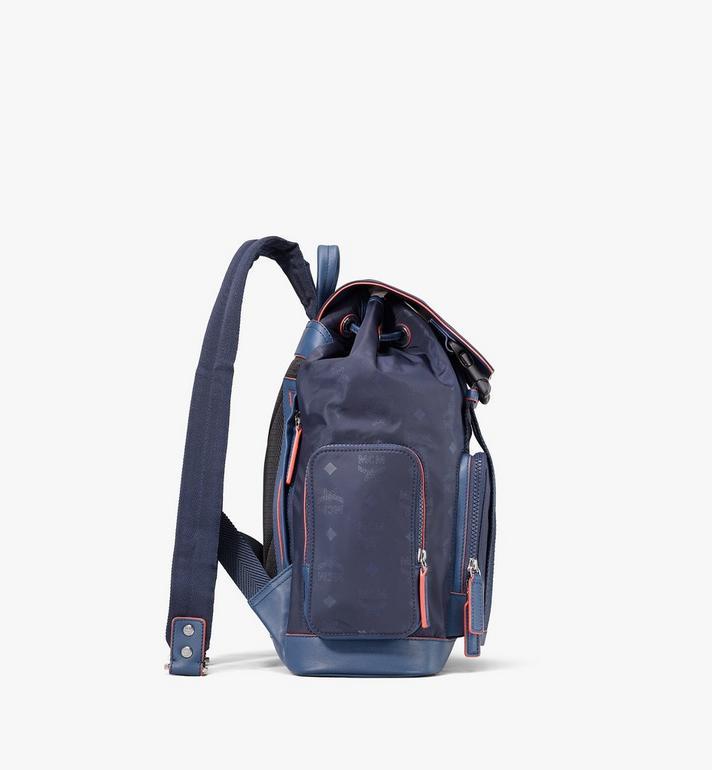 MCM Brandenburg Backpack in Monogram Nylon Blue MMKASBG08VA001 Alternate View 2