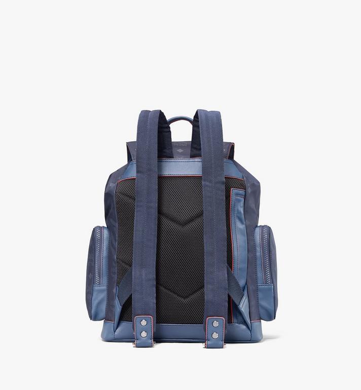 MCM Brandenburg Backpack in Monogram Nylon Blue MMKASBG08VA001 Alternate View 3