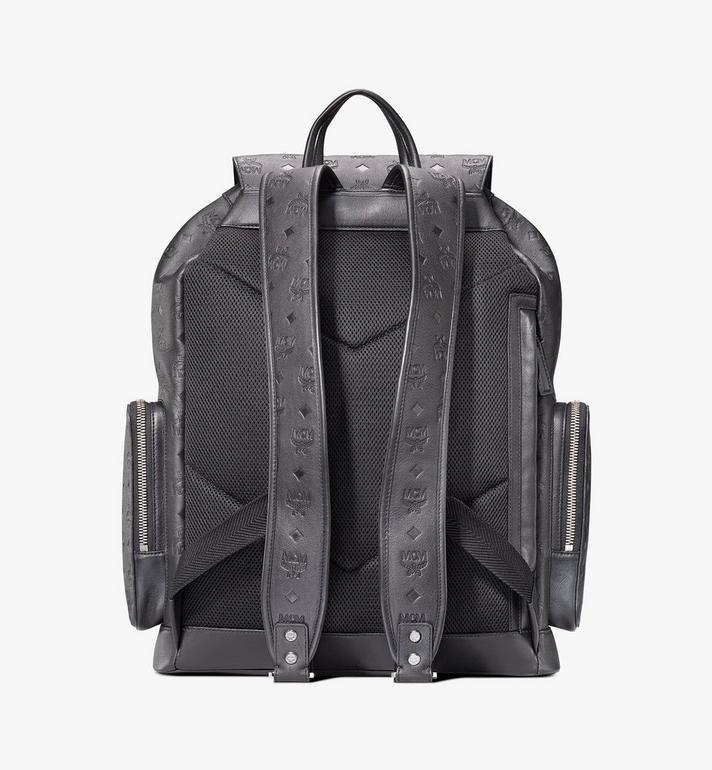 MCM Brandenburg Backpack in Monogram Leather Black MMKASBG09BK001 Alternate View 3