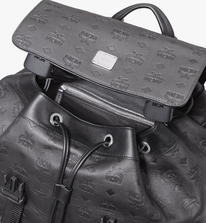 MCM Brandenburg Backpack in Monogram Leather Black MMKASBG09BK001 Alternate View 4