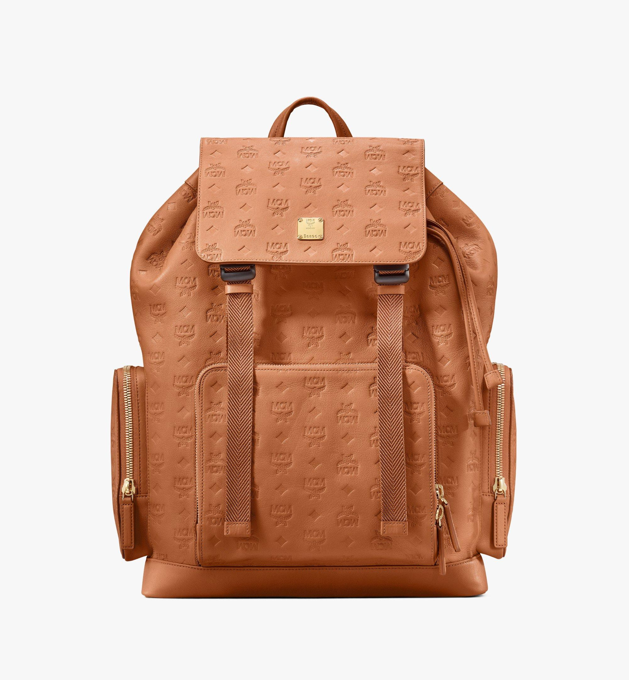 Large Brandenburg Backpack in Monogram Leather Cognac | MCM® DE