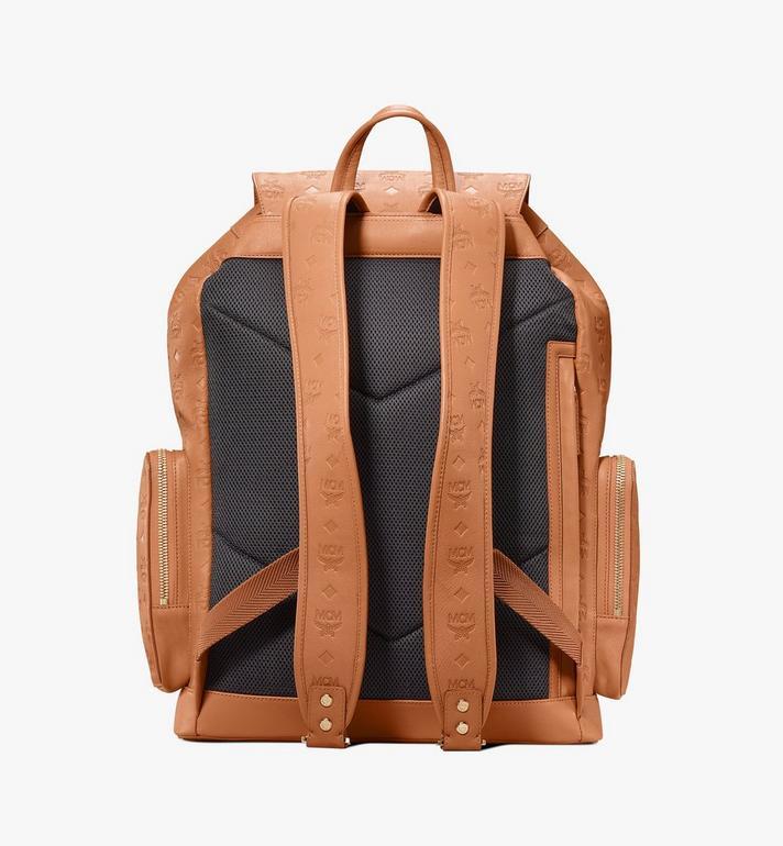 MCM Brandenburg Backpack in Monogram Leather Cognac MMKASBG09CO001 Alternate View 3