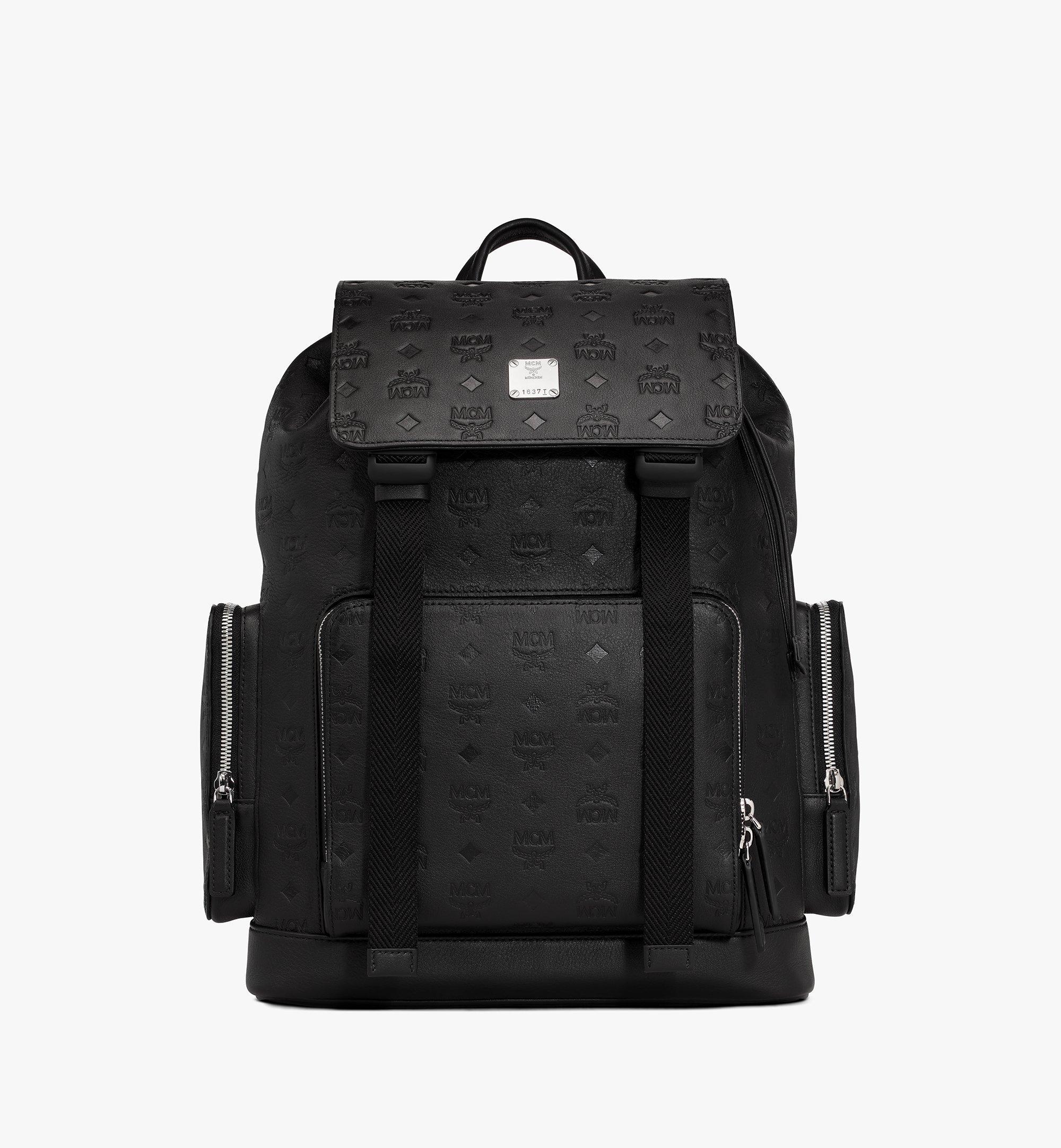 MCM Brandenburg Backpack in Monogram Leather Black MMKASBG10BK001 Alternate View 1