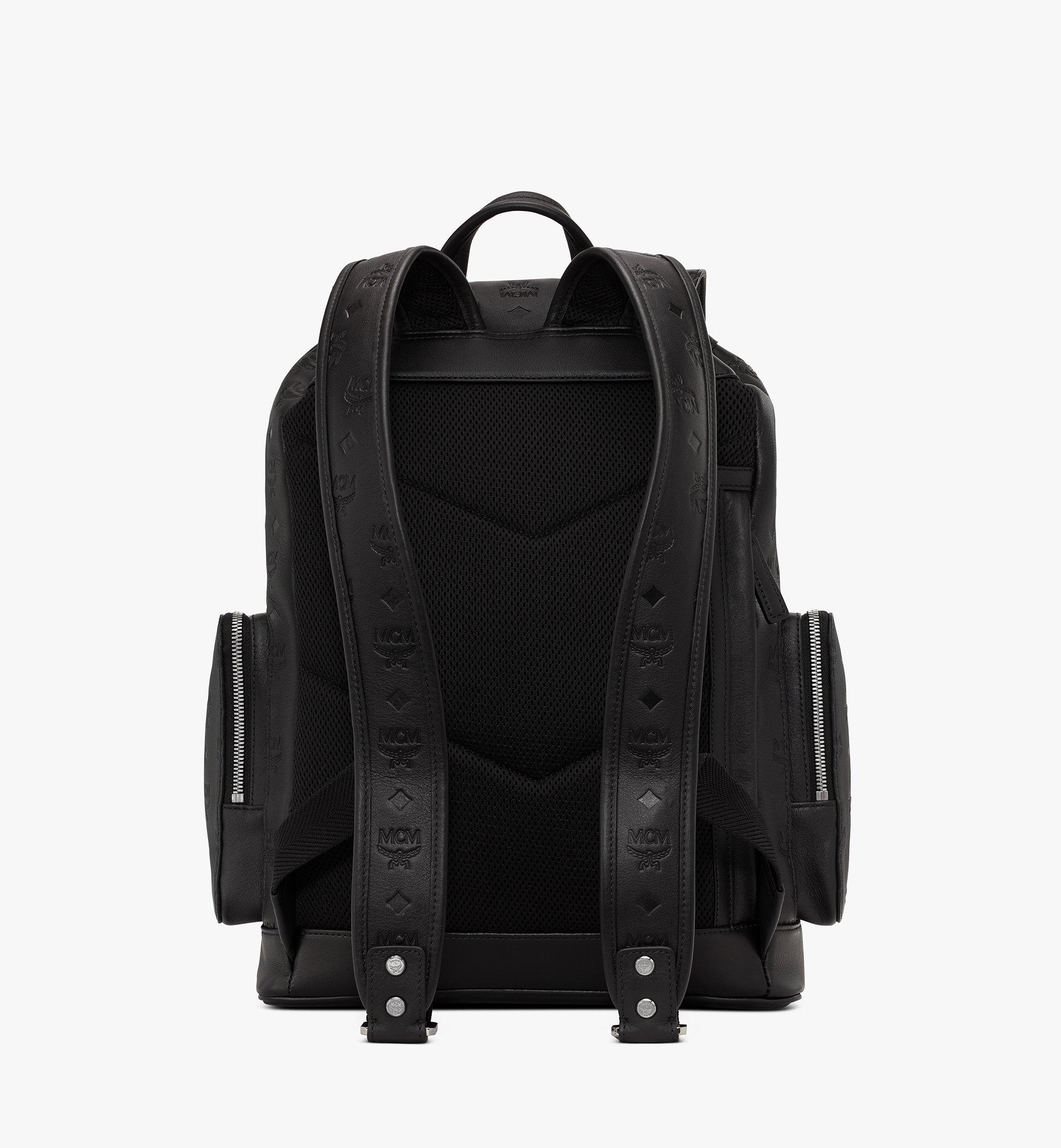 MCM Brandenburg Backpack in Monogram Leather Black MMKASBG10BK001 Alternate View 3