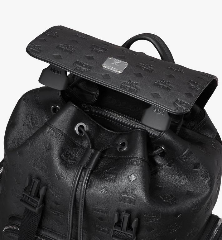 MCM Brandenburg Backpack in Monogram Leather Black MMKASBG10BK001 Alternate View 4