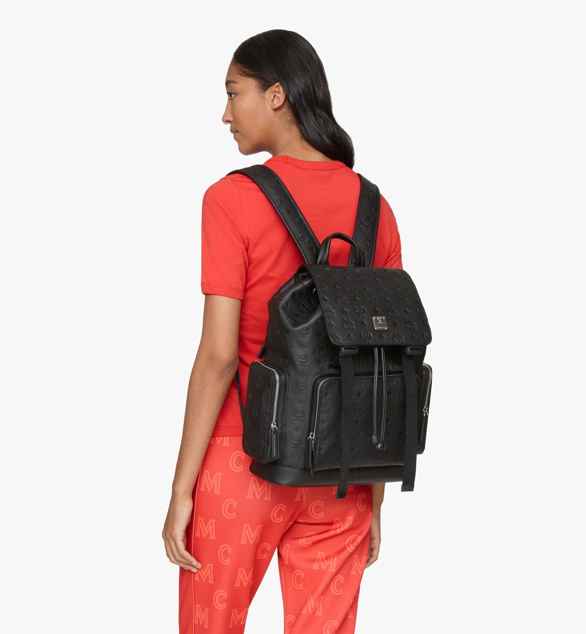 MCM Brandenburg Backpack in Monogram Leather Black MMKASBG10BK001 Alternate View 5