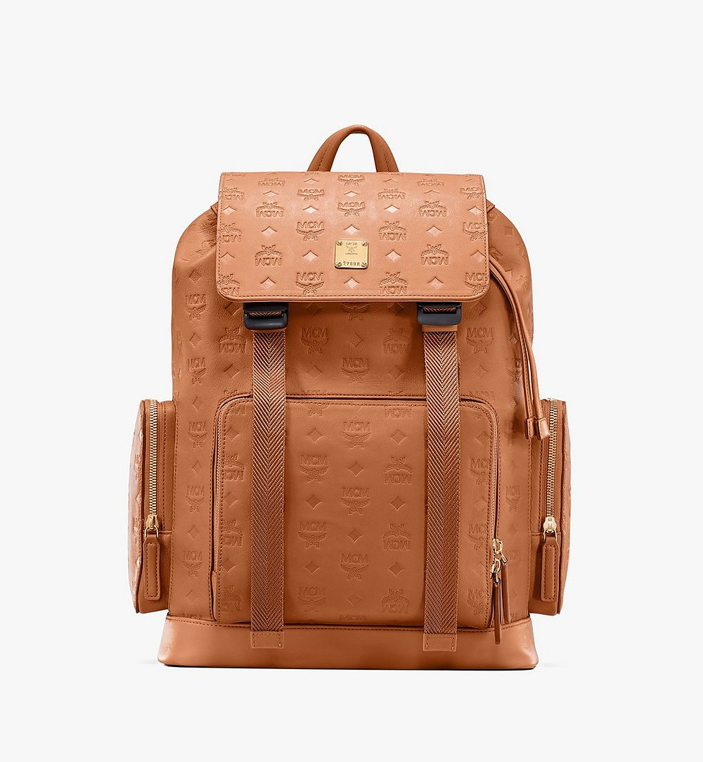 MCM Brandenburg Backpack in Monogram Leather Cognac MMKASBG10CO001 Alternate View 1