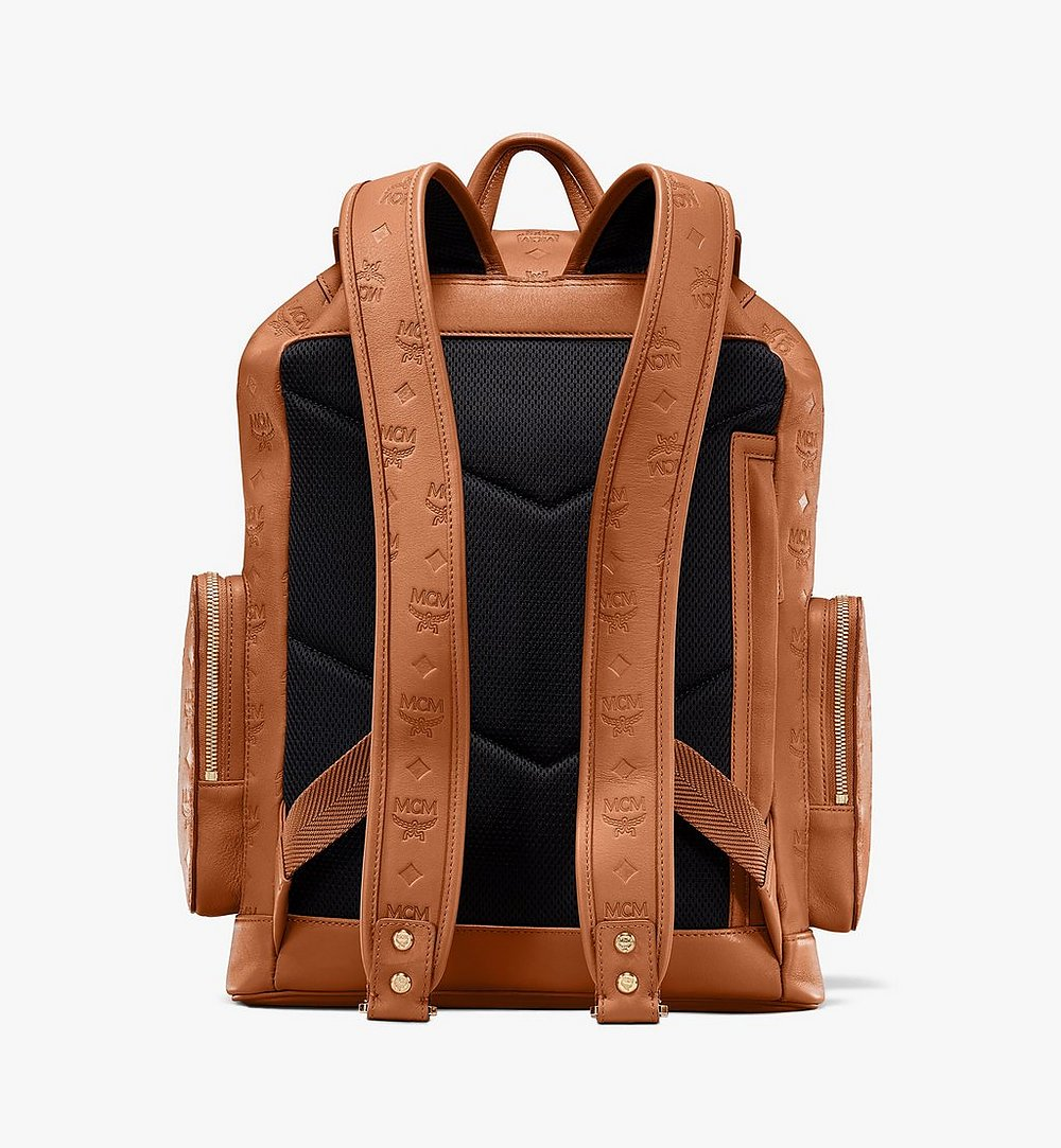 MCM Brandenburg Backpack in Monogram Leather Cognac MMKASBG10CO001 Alternate View 2