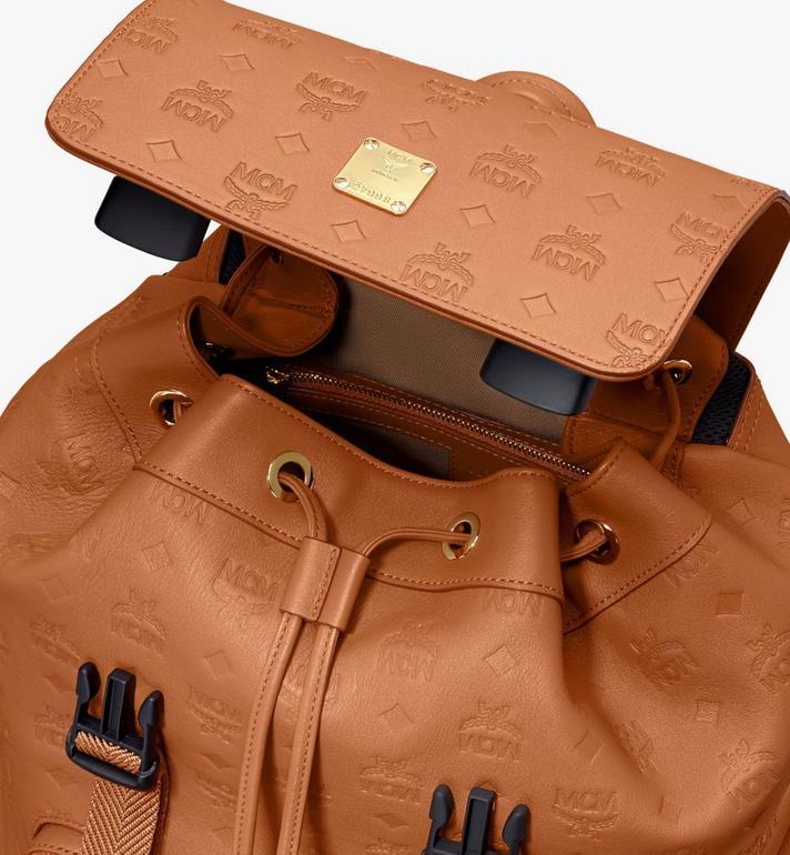 MCM Brandenburg Backpack in Monogram Leather Cognac MMKASBG10CO001 Alternate View 4