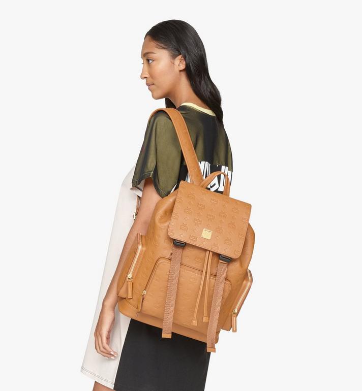 MCM Brandenburg Backpack in Monogram Leather Cognac MMKASBG10CO001 Alternate View 6