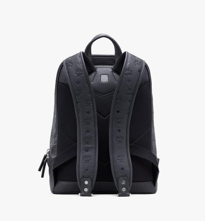 MCM Neo Duke Backpack in Monogram Leather Black MMKASDK01BK001 Alternate View 3