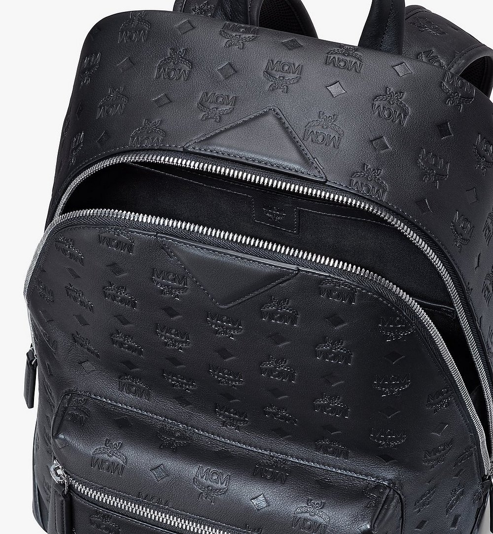 MCM Neo Duke Backpack in Monogram Leather Pink MMKASDK01BK001 Alternate View 3
