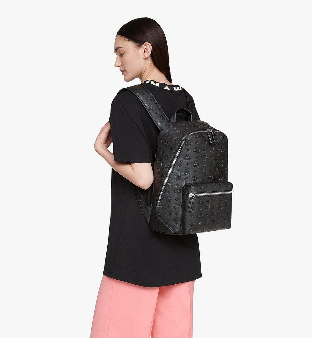 MCM Neo Duke Backpack in Monogram Leather Pink MMKASDK01BK001 Alternate View 4