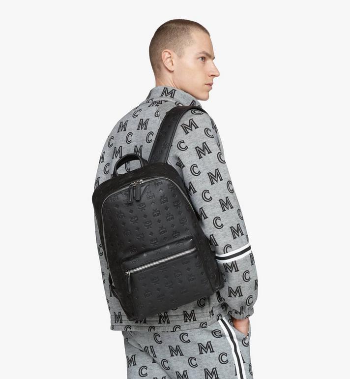MCM Neo Duke Backpack in Monogram Leather Black MMKASDK01BK001 Alternate View 7