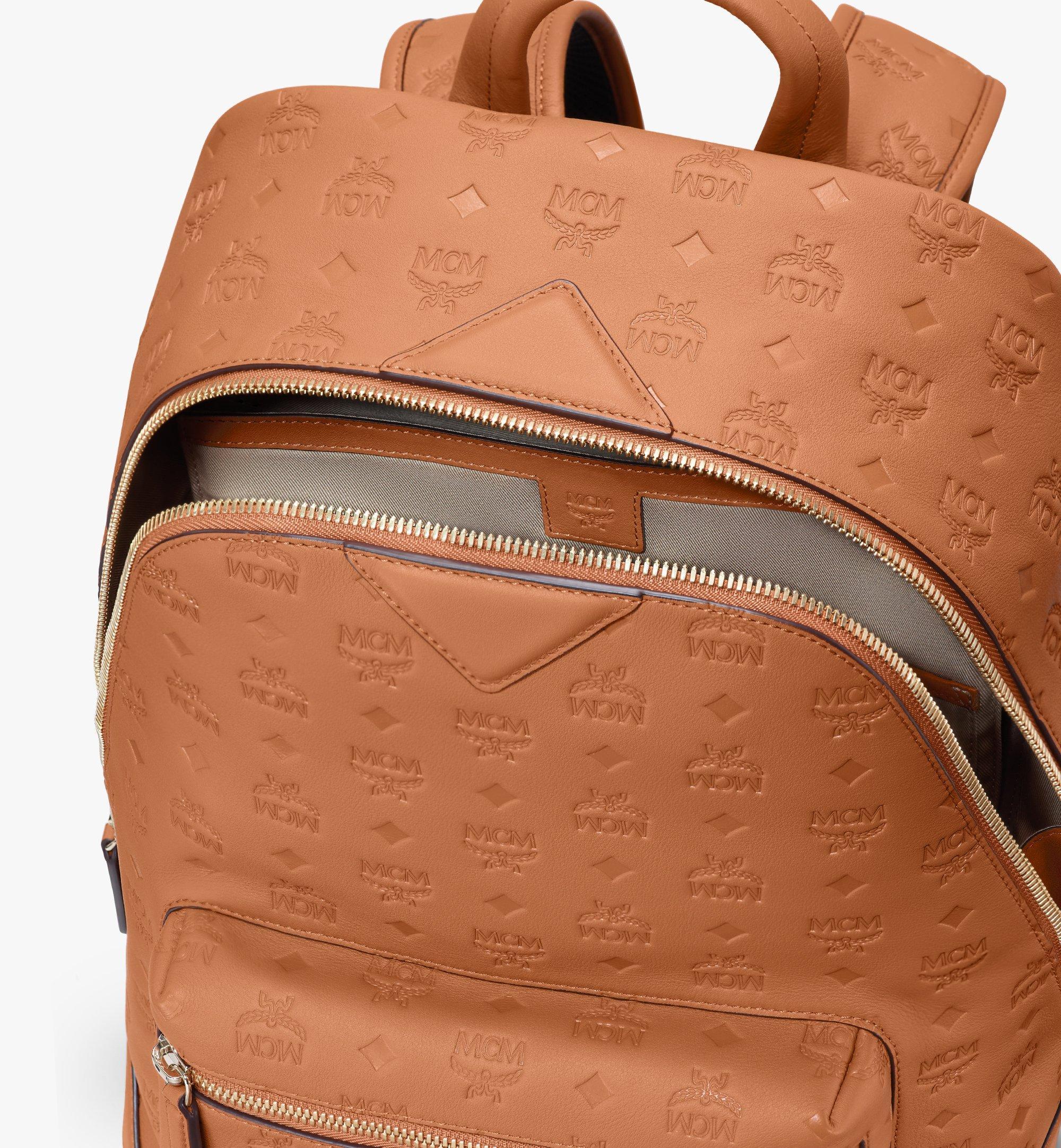 MCM Neo Duke Backpack in Monogram Leather Cognac MMKASDK01CO001 Alternate View 4