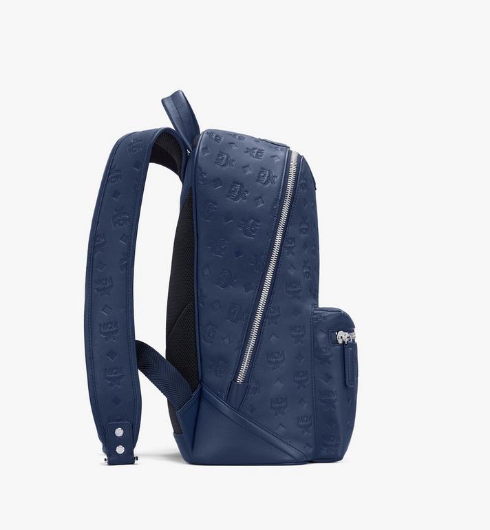 MCM Neo Duke Backpack in Monogram Leather Blue MMKASDK01VA001 Alternate View 2