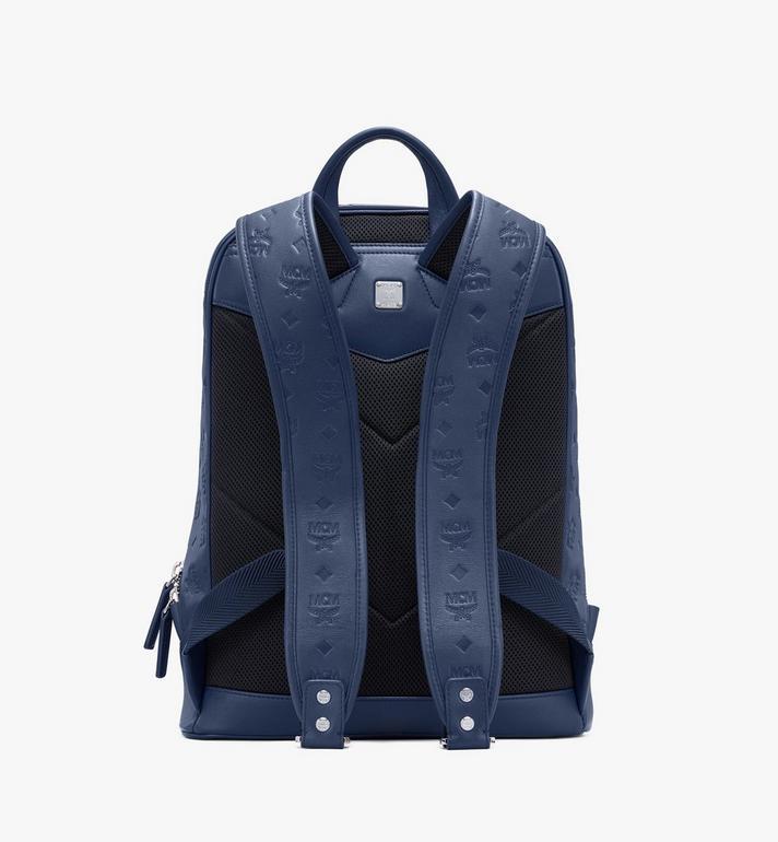 MCM Neo Duke Backpack in Monogram Leather Blue MMKASDK01VA001 Alternate View 3