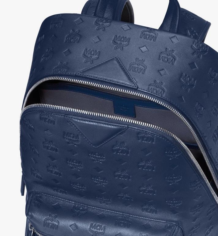 MCM Neo Duke Backpack in Monogram Leather Blue MMKASDK01VA001 Alternate View 4