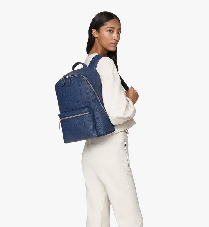 MCM Neo Duke Backpack in Monogram Leather Blue MMKASDK01VA001 Alternate View 6