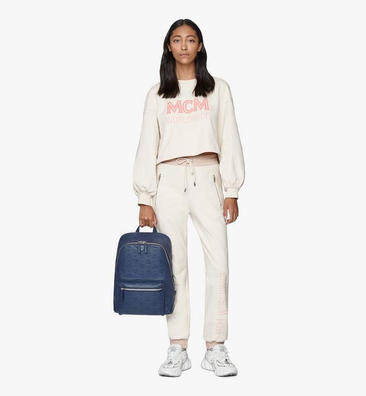 MCM Neo Duke Backpack in Monogram Leather Blue MMKASDK01VA001 Alternate View 7