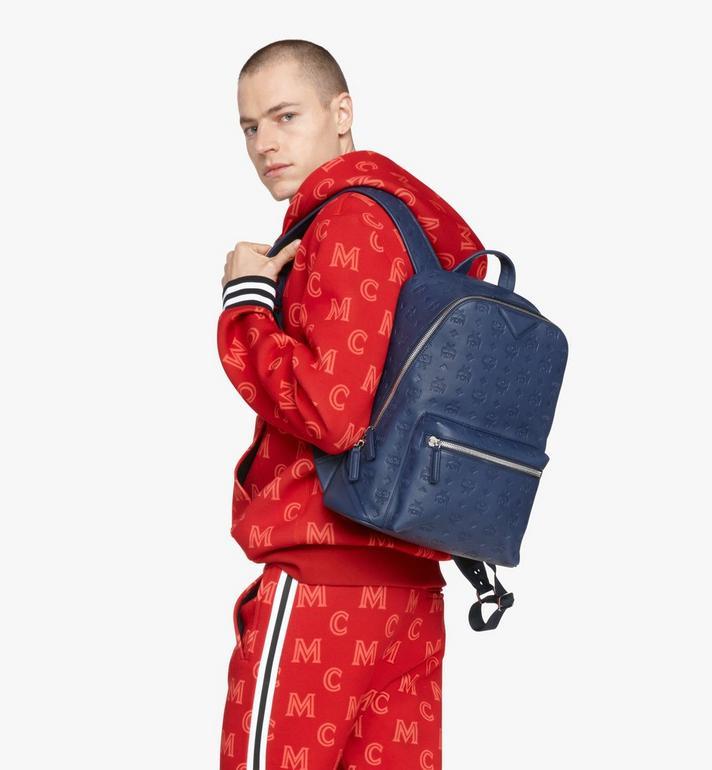 MCM Neo Duke Backpack in Monogram Leather Blue MMKASDK01VA001 Alternate View 8