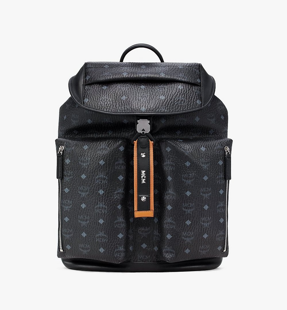 MCM Kreuzberg Backpack in Visetos Black MMKASGE01BK001 Alternate View 1