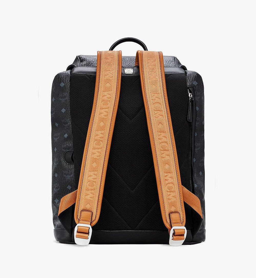 MCM Kreuzberg Backpack in Visetos Black MMKASGE01BK001 Alternate View 2