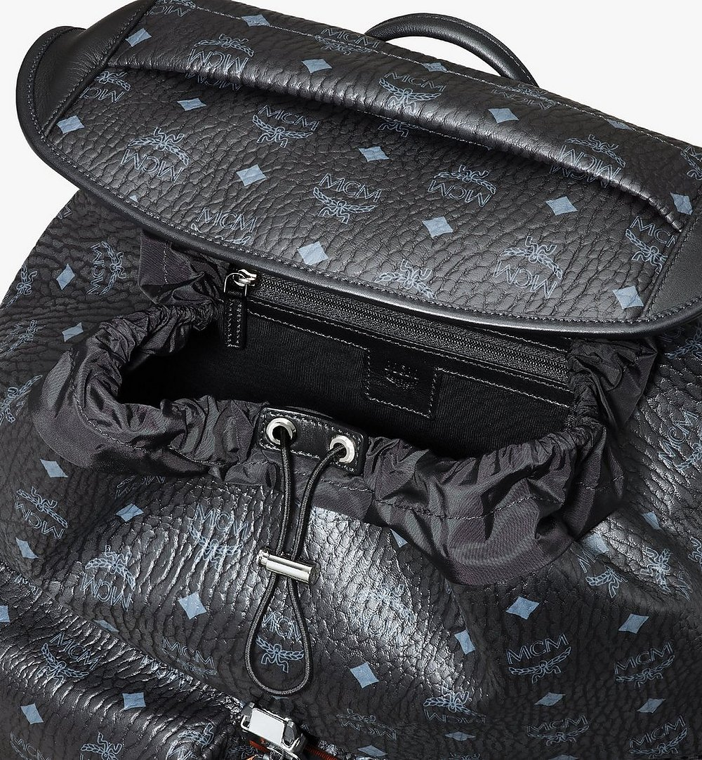 MCM Kreuzberg Backpack in Visetos Black MMKASGE01BK001 Alternate View 3