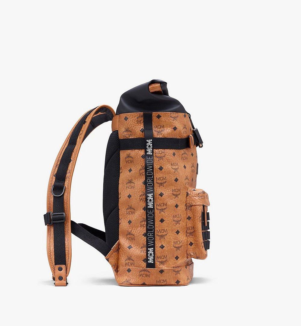MCM 1976 Roll-Top Backpack in Visetos Cognac MMKASMV02CO001 Alternate View 1