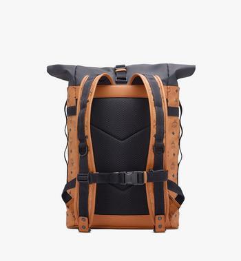 MCM 1976 Roll-Top Backpack in Visetos Cognac MMKASMV02CO001 Alternate View 3