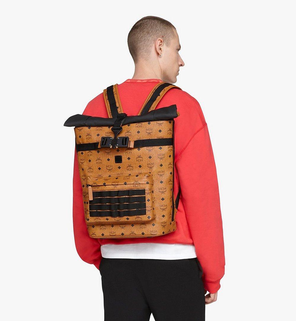 MCM 1976 Roll-Top Backpack in Visetos Cognac MMKASMV02CO001 Alternate View 2