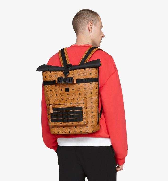 MCM 1976 Roll-Top Backpack in Visetos Cognac MMKASMV02CO001 Alternate View 5