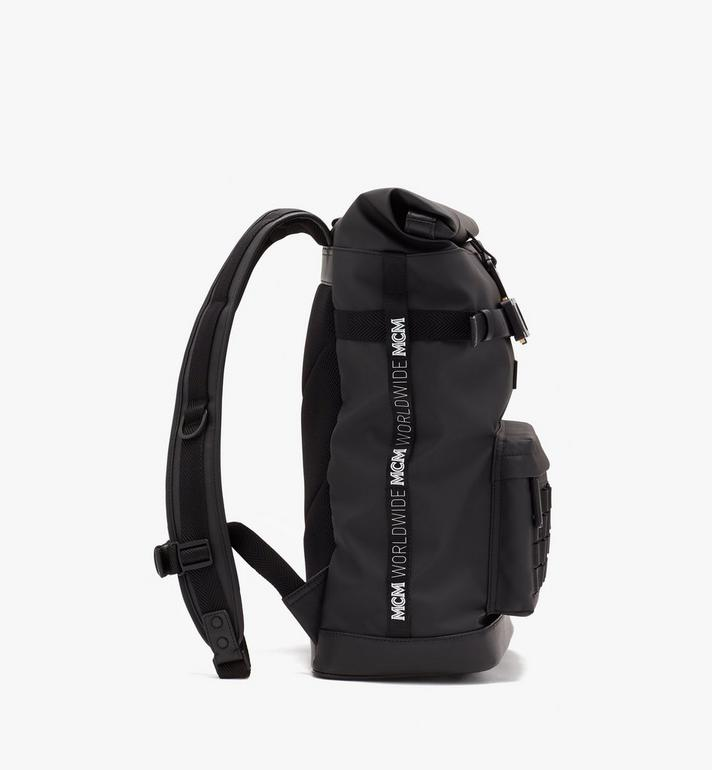 MCM 1976 Roll-Top Backpack Black MMKASMV03BK001 Alternate View 2