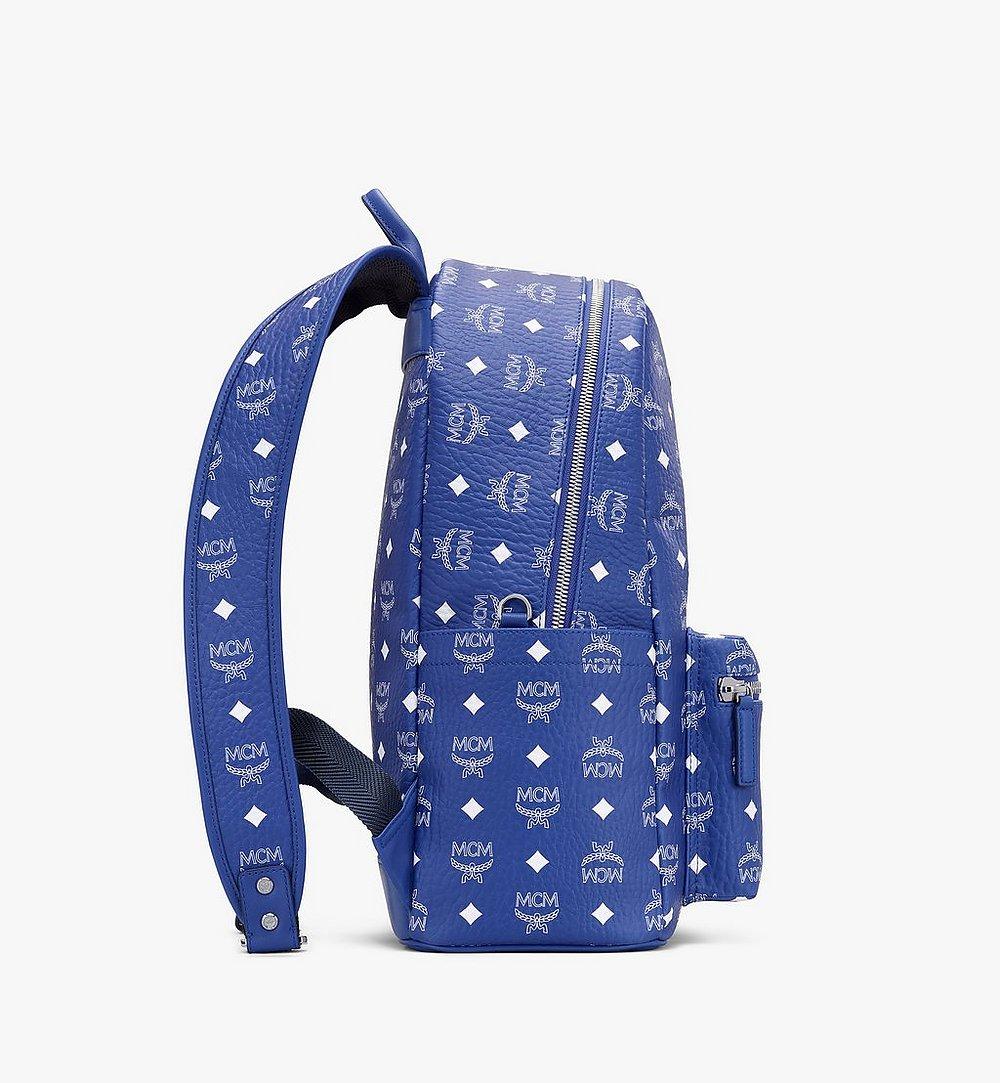 MCM Stark Backpack in Visetos Blue MMKASVE02H1001 Alternate View 1