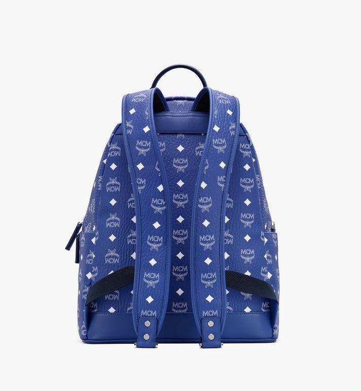 MCM Stark Backpack in Visetos Blue MMKASVE02H1001 Alternate View 3