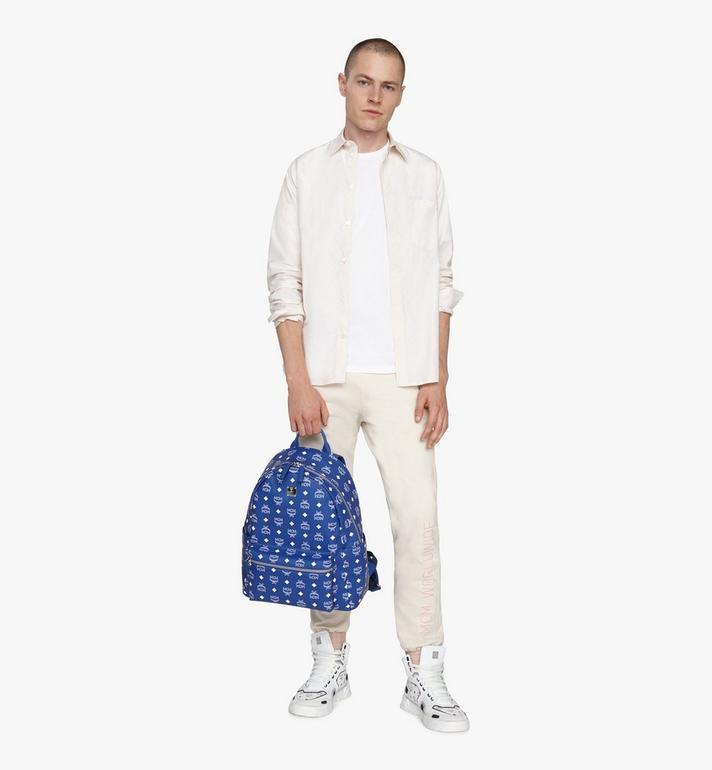 MCM Stark Backpack in Visetos Blue MMKASVE02H1001 Alternate View 5