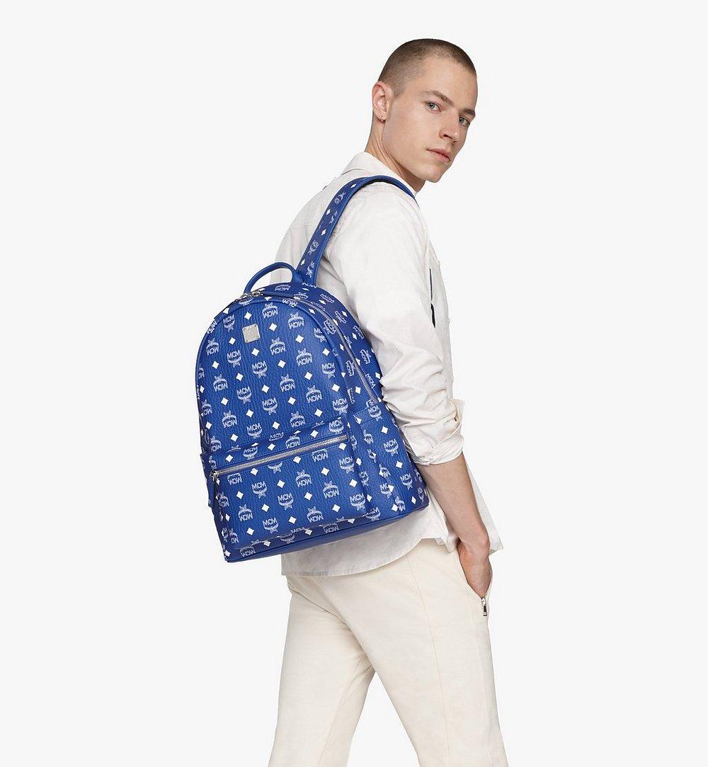 MCM Stark Backpack in Visetos Blue MMKASVE02H1001 Alternate View 2