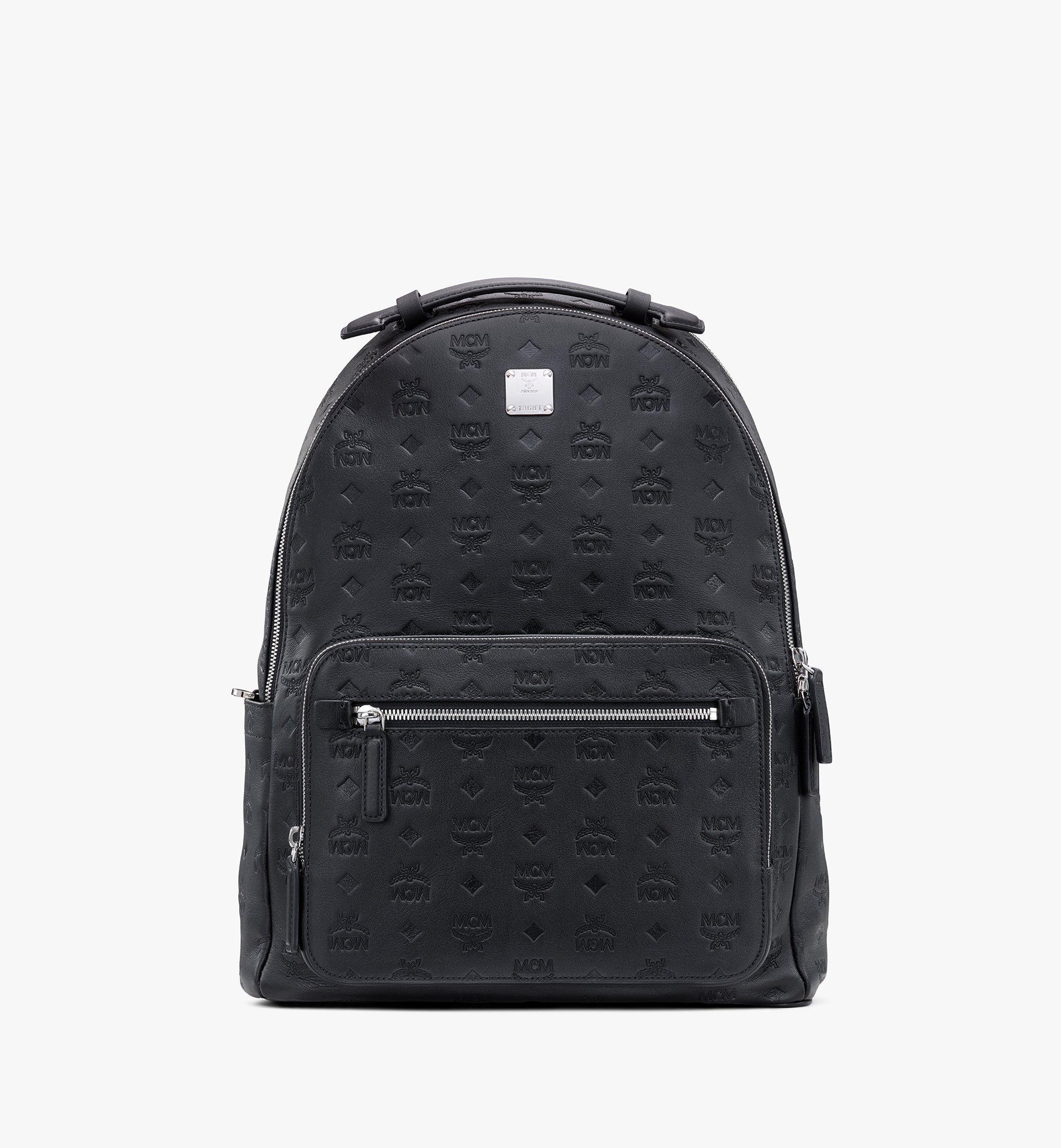 MCM Stark Backpack in Monogram Leather Black MMKASVE09BK001 Alternate View 1
