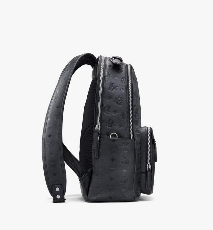 MCM Stark Backpack in Monogram Leather Black MMKASVE09BK001 Alternate View 2