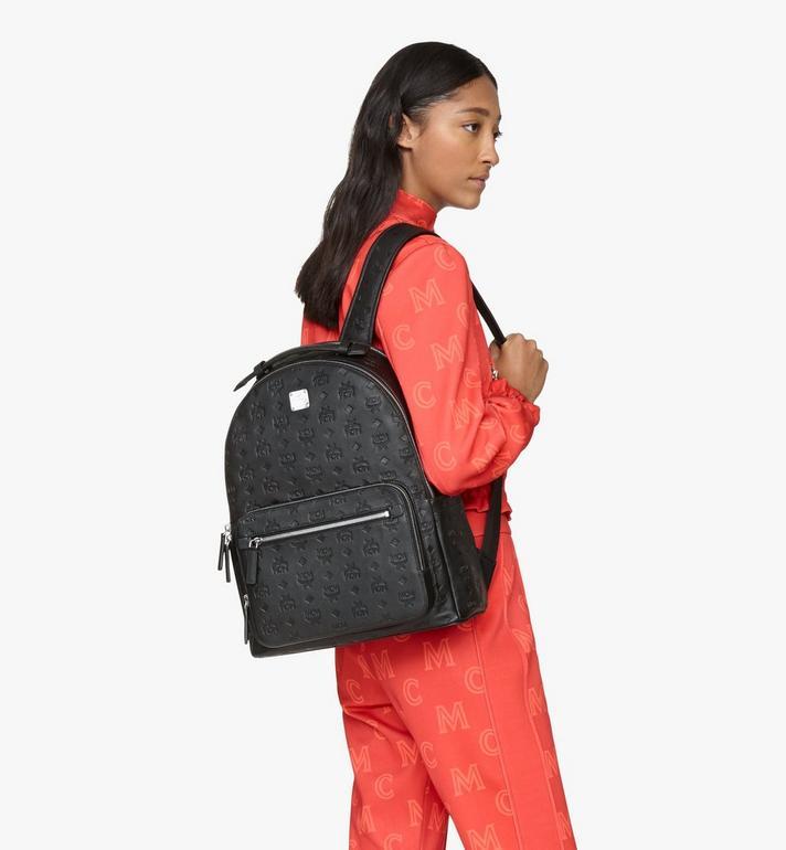 MCM Stark Backpack in Monogram Leather Black MMKASVE09BK001 Alternate View 6