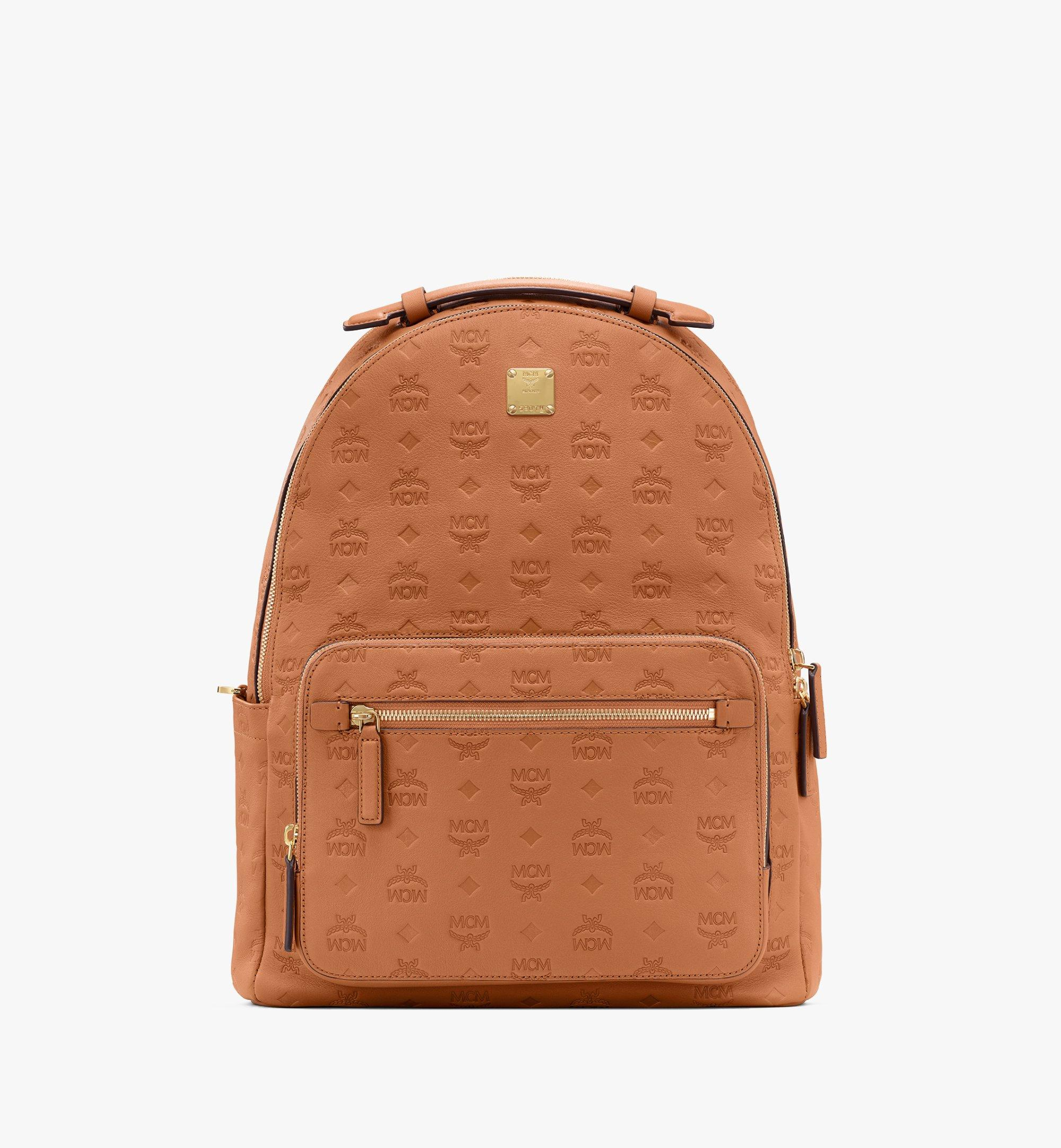 40 Cm 16 In Stark Backpack In Monogram Leather Cognac Mcm Pt