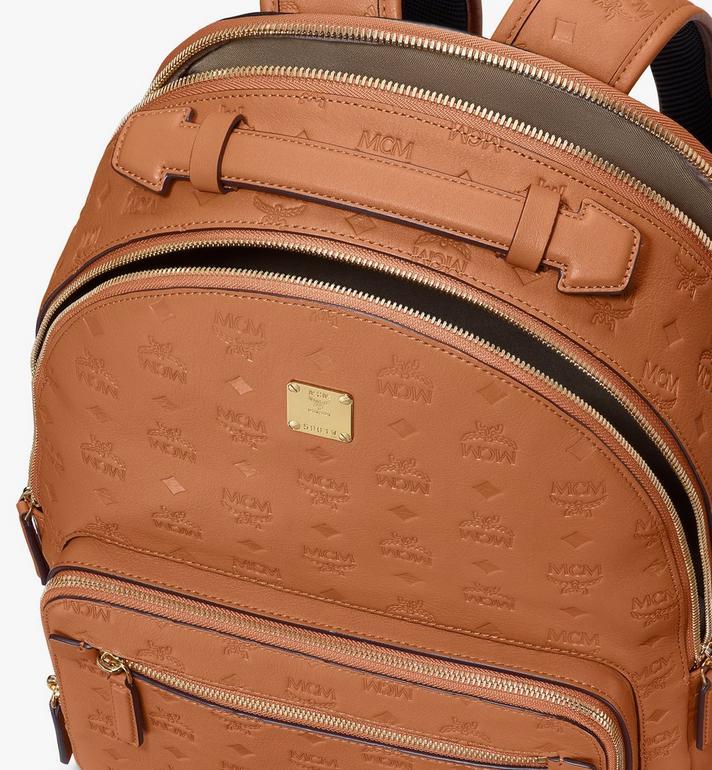 MCM Stark Backpack in Monogram Leather Cognac MMKASVE09CO001 Alternate View 4